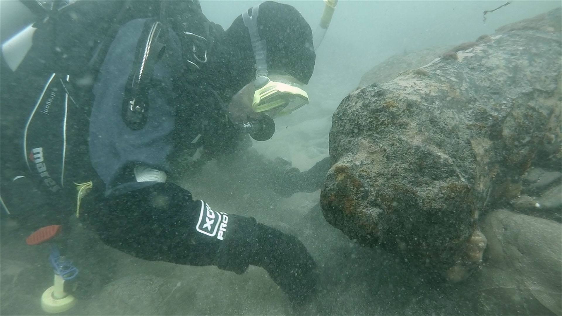David Gibbins on a wreck off Cornwall